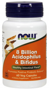 NOW 8 Billion Acidoph/Bifidus (60 кап)