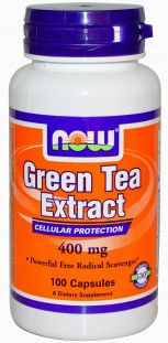 NOW Green Tea Extract 400 мг 60% (100 кап)