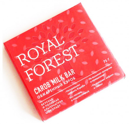 Royal Forest Carob Milk Bar (обжаренный кэроб) 75гр