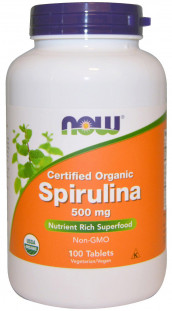 NOW Spirulina 500 мг (100 таб)