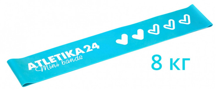 Фитнес резинка Mini Bands Голубая Atletika24 (8 кг)