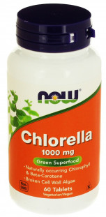 NOW Chlorella 1000 mg (60 таб)